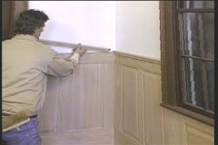 wainscot paneling installation - step 9