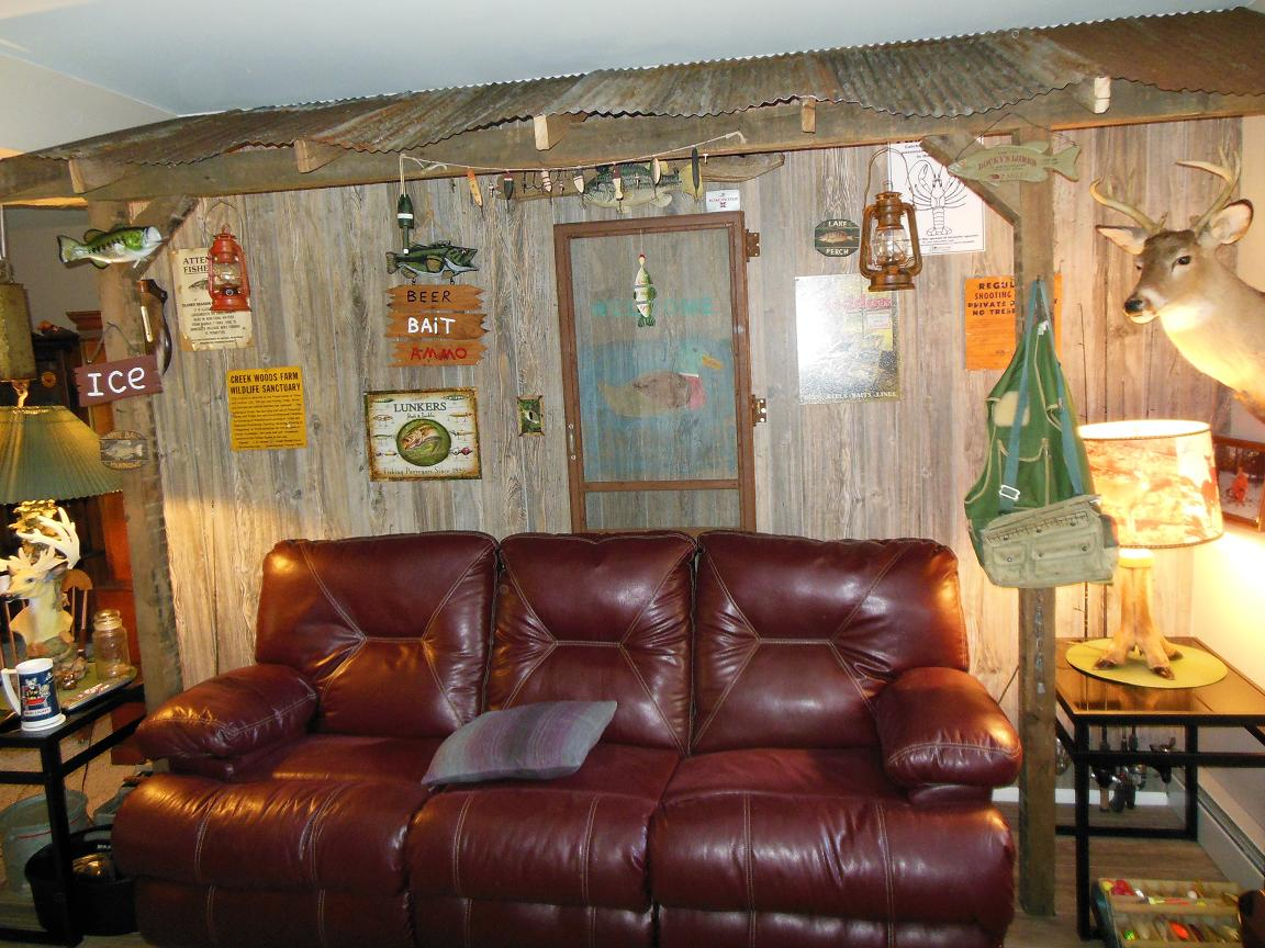 Rustic Paneling on a feature wall