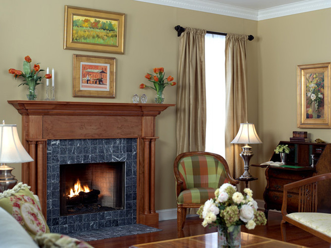Give your home a new look with the Princeville Custom Fireplace Mantel.