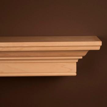 Daphne Natural Maple Mantel Shelf by New England Classic - Corner Detail