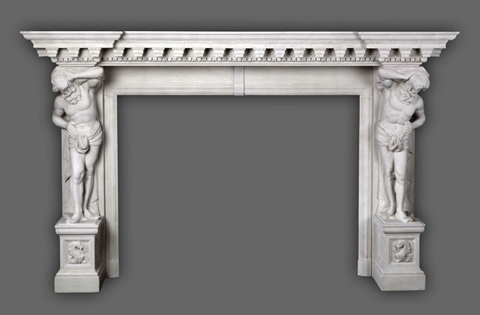 The Hercules marble mantel is a favorite for most interior designers.