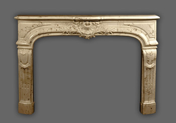 The Fontaine marble mantel comes in a variety of colors.