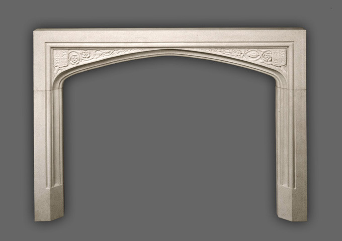 Beautiful surround that can be custom sized to fit any wood mantel.