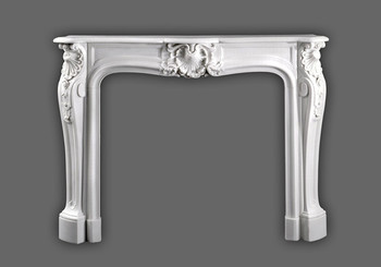 The timeless French marble mantel is very popular in the Heritage Mantel collection.