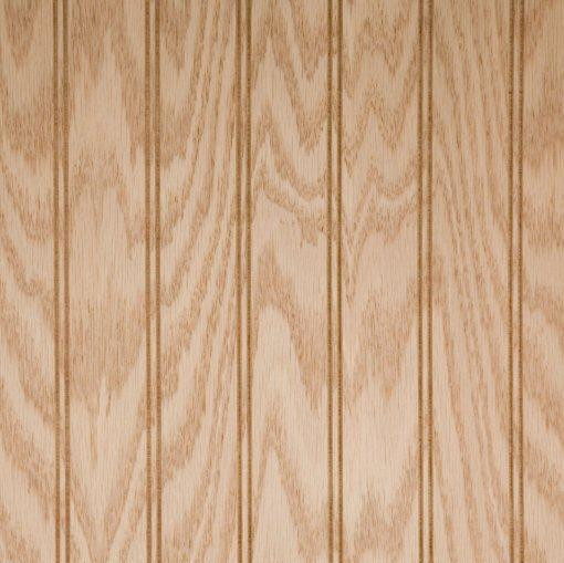 Red Oak Beaded Wainscot Wood Paneling Unfinished