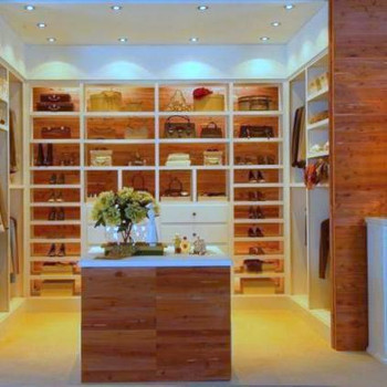 CedarSafe planking used extensively in a master bedroom closet