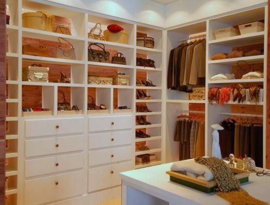 A master bedroom closet renovation with aromatic cedar planking