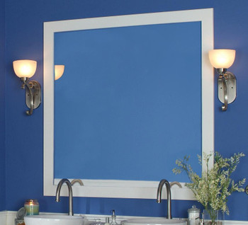 "Belmont 3"" White Mirror Frame by NewEnglandClassic"