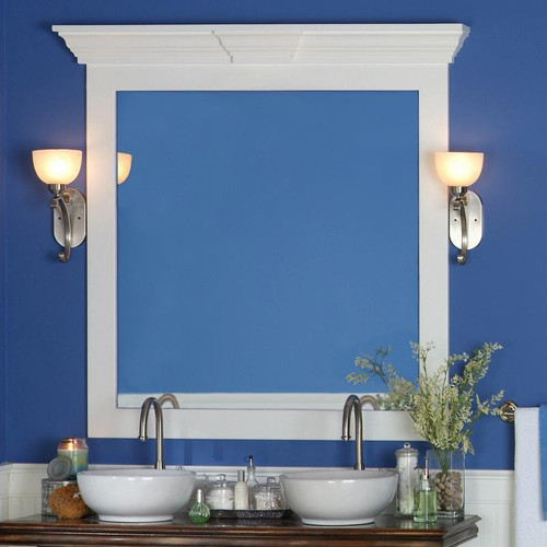 Piedmont Mirror Frame Cap on Belmont Frame by NewEnglandClassic