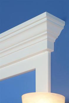 Maysville Mirror Frame Cap Corner Detail