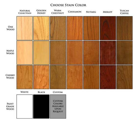 New England Classic Wood Stain Finish Sample Wainscoting