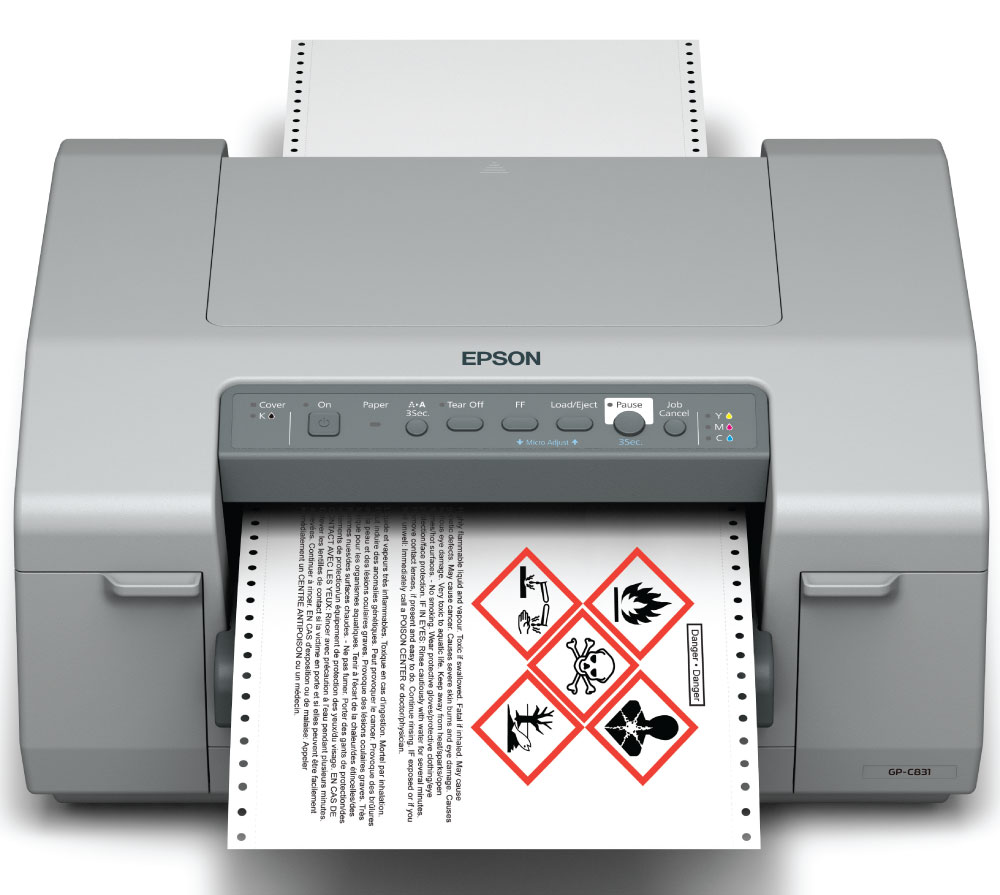 Lesae your Epson GP-C831 color label printer from DuraFastLabel.com