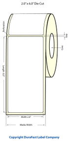 Epson TM-C3500 2x6 Matte BOPP Label Roll | Epson Media | 814024