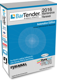 BarTender 2016 Automation Maintenance Renewal  with 50 Printer License