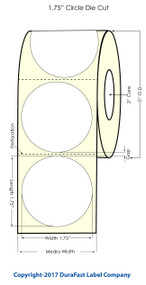 Primera LX400 1.75 Circle High Gloss Labels 1000/Roll