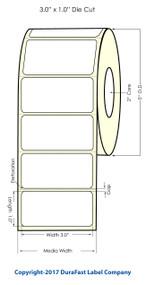 """Primera LX400 3"""" x 1"""" High Gloss Labels 1700/Roll"""