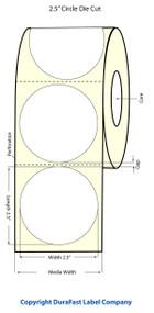 Primera LX400 2.5 inch Circle Matte BOPP Labels | Primera LX400 Labels | Labels