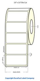 "Primera LX400 3""x2"" Matte BOPP Labels | Primera LX400 Labels | Labels"
