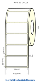 "Primera LX400 4""x2"" Glossy BOPP Labels | Primera LX400 Labels | Labels"