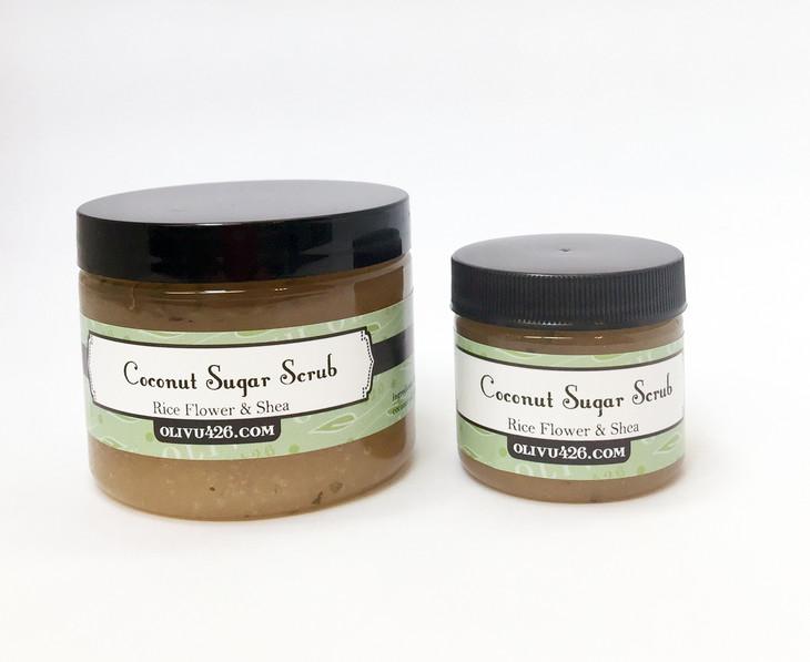 Rice Flower & Shea Coconut Oil Sugar Scrub