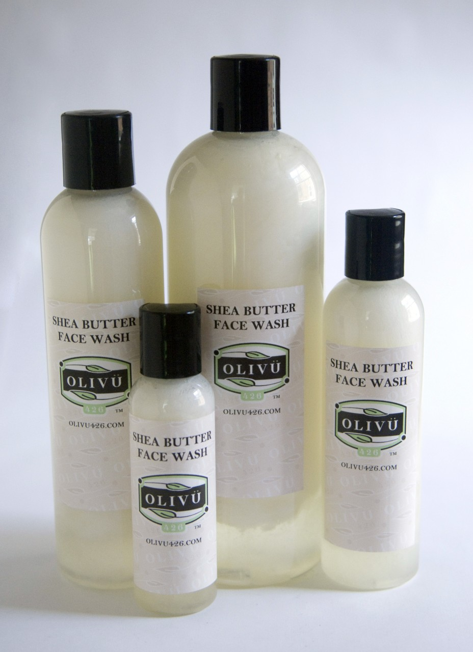 Shea Face & Body Wash available in 2, 4, 8 & 16 oz sizes