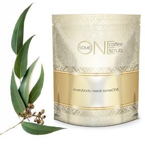 Eucalyptus Kona Anti Cellulite Coffee Scrub with Dead Sea Salts - 24oz - All Natural
