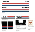 SEARS LT/10 Lawn Tractor Decal Kit