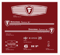 Firestone Supreme 25 Lawn Tractor Decal kit