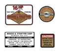 Briggs and Stratton 16hp decal set