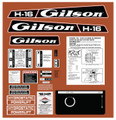 Gilson 1974 H-16 Decal Kit