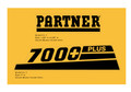 PARTNER chain saw housing decal