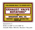 Sensation Exhaust Valve Rotators Decal