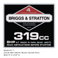 Briggs & Stratton 319cc Decal