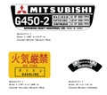 Mitsubishi G450-2 RPM Decals