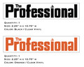 The Professional Mower Decals
