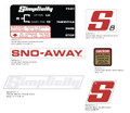 Simplicity S8 Snowblower Decal