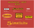 Simplicity Wonder Boy 400 Decal Kit