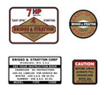 Briggs and Stratton 7hp decal set