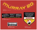 Murray 20 Lawn Mower Decals