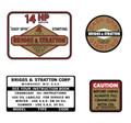 Briggs and Stratton 14hp Decal Kit