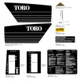 TORO 1980 57300 Lawn Tractor Decal Kit