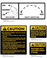 International QA42A Caution Decals