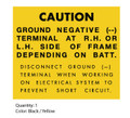 Simpliciity 1961 Lawn Tractor Caution Decal