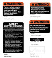 Ariens Snowblower Warning and Safety Decals