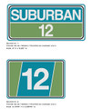 SEARS Suburban 12 Hood and Grill Decals