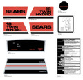 SEARS Twin Hydro 18 Decal Kit