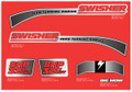 Swisher Ride King 8hp Mower Decals