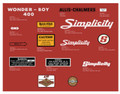 Simplicity 4HP Wonder-Boy 400 Decal Kit