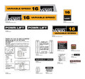 Montgomery Wards 16 Variable Speed Decal Kit