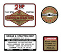 Briggs and Stratton 2hp Decal Set